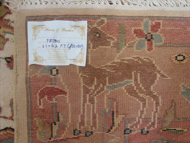 WOW VAAS GULDASTA ONE WAY LOVELY HAND KNOTTED RUG WOOL