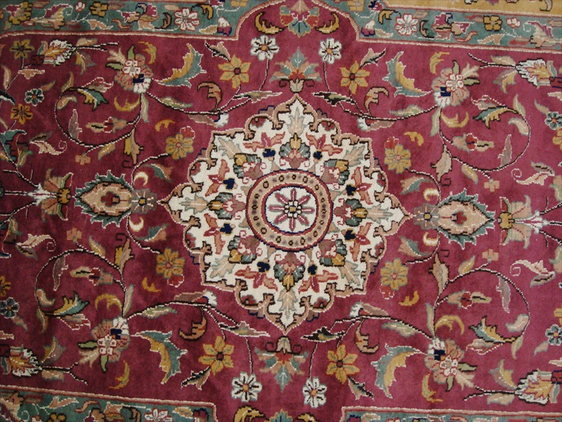 LOVE MEDALLION FLORAL ORIENTAL HAND KNOTTED RUG WOOL SILK CARPET 9x6 FB-2753